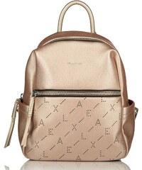Axel Shonda backpack with zippers 1023-0145 metallic bronze dd0cd1868bf