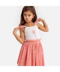 2934b901b10 LA REDOUTE COLLECTIONS Αμάνικο φόρεμα από βαμβάκι και τούλι, 3-12 ετών