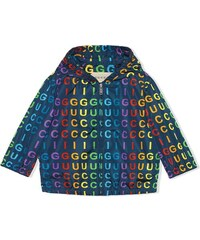 257c0a5cc3c Gucci Kids Baby nylon jacket with Gucci vertical print - Blue