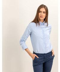 352c5ab34b51 Issue Fashion Βαμβακερό πουκάμισο με μικρά πουά