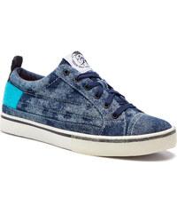 e7c44d518c9 Πάνινα παπούτσια DIESEL - D-Velows Low Patch Y01870 P2284 H7108 Indigo/Light  Blue