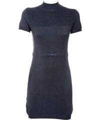 e04da6558333 ZUIKI NEW COLLECTION Ιταλικό ανθρακί κοντομάνικο πλεκτό ελαστικό φόρεμα