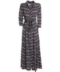 b4ef8f963425 ZUIKI Ιταλικό εμπριμέ ζακάρ μακρύ φόρεμα