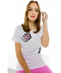 6e8acbe8f481 Μπλούζα Miss Pinky με τύπωμα pop - ΑΣΠΡΟ 104-1456