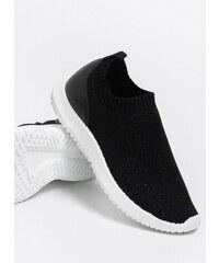 746cfc741116 The Fashion Project Αθλητικά από ελαστικό glitter ύφασμα - Μαύρο -  07034002002