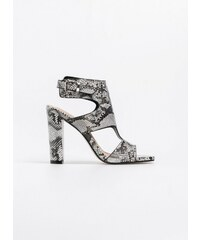 1cb0864f35e The Fashion Project Πέδιλα με snake pattern - Λευκό/Μαύρο - 07040058002
