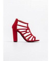 69fb23f5dc3 The Fashion Project Suede πέδιλο-μποτάκι με σχέδιο - Κόκκινο - 07137014002