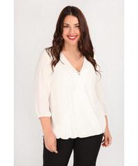 4f3d583f1310 Dina XL Plus Size Kρουαζέ μπλούζα με καρφίτσα