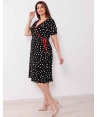9131ae7cb64f e-xclusive Κρουαζέ φόρεμα με πουά δύχτι στα μανίκια - Glami.gr