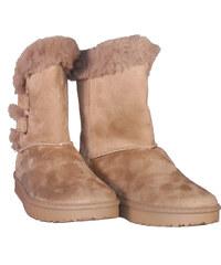 fdd96986834 Γυναικείο μποτάκι gsecret με επένδυση γούνα & λαστιχένιο αντιολισθητικό  πάτο. Casual style.