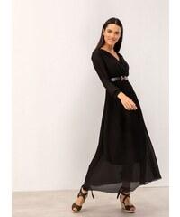 d4a3ef533b45 The Fashion Project Maxi πλισέ κρουαζέ φόρεμα - Μαύρο - 07229002001