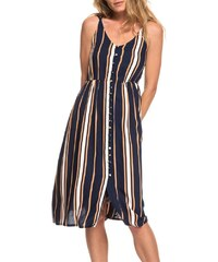 4caff7781ded ROXY SUNSET BEAUTY DRESS BLUE MACY STRIPE
