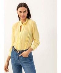685f08a70e93 Noobass Διάφανη πουκαμίσα βικτωριανού τύπου - Κίτρινο - 06982015004