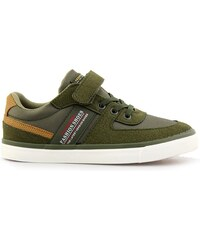 8b2061abccc InShoes Παιδικά sneakers με τύπωμα και αυτοκόλλητο Χακί