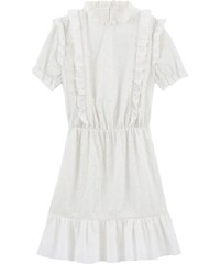 41e80c09341a BALZAC PARIS X LA REDOUTE Κοντομάνικο φόρεμα από γκιπούρ δαντέλα