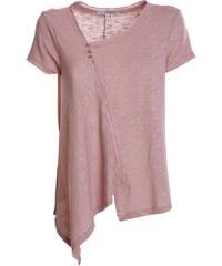 05bd64bbe0b7 ATTRATTIVO Γυναικεία κοντομάνικη ασύμμετρη σομόν δροσερή μπλούζα