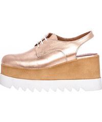 f23d0dd5e17 Γυναικεία Παπούτσια Casual 191.S17 Μπρονζέ Δέρμα Mortoglou