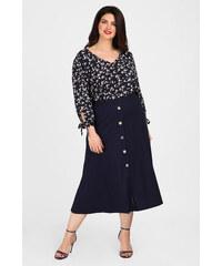 473b23778c7 Λεπτομέρειες. Dina XL Plus Size Κλος μίντι φούστα με διακοσμητικά κουμπιά