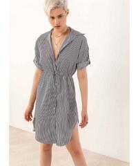 f1ecc7d763ea The Fashion Project Φόρεμα πουκάμισο σεμιζιέ με ρίγες - Λευκό Μαύρο -  07232058001