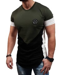 eb86c6f87e04 Vinyl Art Clothing Vinyl Art - 76111 - Asymetric Core Tees - Khaki Black