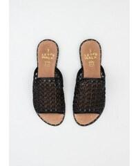 2a5a5783554 The Fashion Project Ίσια σανδάλια με πλεκτό σχέδιο - Μαύρο - 07340002002