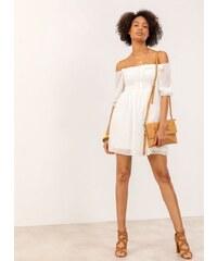 7bf233ed5ba1 The Fashion Project Mini φόρεμα με πουά διαφάνεια στα μανίκια - Λευκό -  07221001001