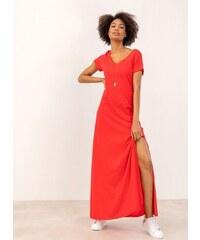 ade2547cb11d Noobass Maxi μακό φόρεμα με ανοίγματα στο πλάι - Μαύρο - 06828002001 ...