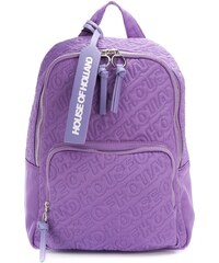 1560e723f7 HOUSE OF HOLLAND embroidered logo backpack - Purple