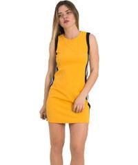 93080aba15f3 Γυναικείο ώχρα αμάνικο φόρεμα λευκές ρίγες Lipsy 1190601R