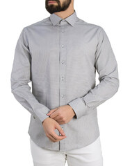 4c24f6066513 Gio.S Ανδρικό γκρι πουκάμισο μικροσχέδιο GioS 9085S19