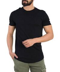 aa07dafaf8a1 Ανδρικό μαύρο t-shirt Brothers μονόχρωμο 19002C