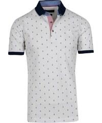 f463bbe0617a mygolf Ανδρικό Πόλο Μπλουζάκι Λευκό με Μικροσχέδια BLK213