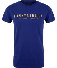ccfb4298ad58 FUNKY BUDDHA Ανδρική μπλέ μπλούζα φλάμα