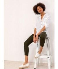 8e0b93223ba4 The Fashion Project Λινή πουκαμίσα με μάο γιακά και τσεπάκι - Λευκό -  07385001001