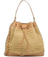 9471a3e57d MIGATO Μπεζ ψάθινη τσάντα