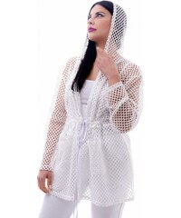 307884504502 Ζακέτα Miss Pinky δίχτυ με κουκούλα - ΑΣΠΡΟ 101-1049