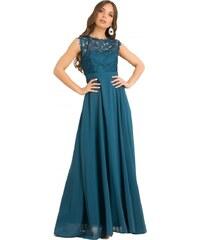 e927bdb04c60 DeCoro F1275 Φόρεμα με Δαντέλα - ΠΕΤΡΟΛ - 12