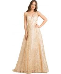 5072bdaa233e DeCoro F9748 Φόρεμα με Κρόσια και Παγιέτες - ΧΡΥΣΟ - 15 - Glami.gr
