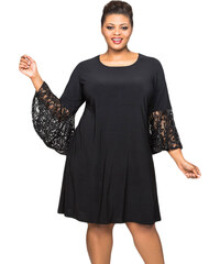41a87ca8be4e maniags Φόρεμα Μαύρο με Δαντελωτά Μανίκια Καμπάνα
