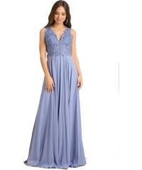6e376f9ad79c DeCoro F8536 Φόρεμα με Δαντελένιο Μπούστο - ΜΠΛΕ ΙΝΤΙΓΚΟ - 12