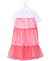 897b4aedc39 Τελευταίες αφίξεις · Il Gufo tulle overlay T-shirt dress - Pink