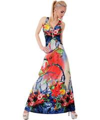 f633264b36d5 SD Fashion 30879 SD Μάξι φόρεμα με χιαστί πλάτη - μπλέ
