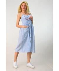 c5a160ff3fc9 Potre Λινό φόρεμα midi