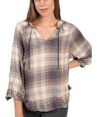 f570ae097d4e ATTRATTIVO Γυναικείο μπέζ-γκρί καρό πετσετέ πουκάμισο