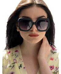 73fe47cb0d Huxley   Grace Γυναικεία μαύρα ματ τετράγωνα γυαλιά ηλίου Luxury S8119L