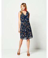 69e2254df24 Lynne Πλισέ φόρεμα με σχέδιο αλυσίδα