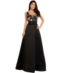 1c05af71fb8c Modys Βραδινό μάξι φόρεμα σε Α γραμμή - ΜΑΥΡΟ
