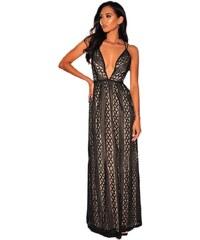 16398da1c4 Modys Βραδινό μάξι φόρεμα με V ντεκολτέ - μαύρο - ΜΑΥΡΟ