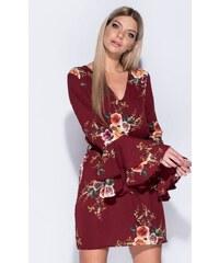 49ca884d0791 Modys Floral print μίνι φόρεμα--Wine - ΜΠΟΡΝΤΟ