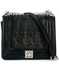 949c80c6fc MIGATO Μαύρη τσάντα με ψαθί πρόσοψη